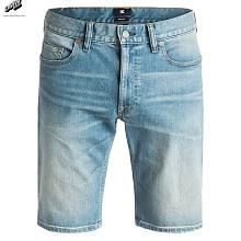 Washed Straight - Shorts de denim INDIGO BLEACH (bfmw)