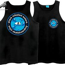 Shark Infested Tank Top Black