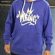 Name Tag Hooded Sweater Roy blue