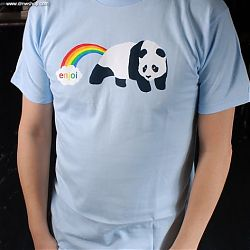Rainbow Fart S/S Tee Light Blue