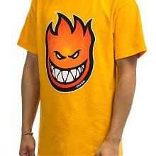 Bighead Fade Fill SS T shirt Gold Red Orange