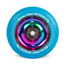 RUEDA METAL CORE AZUL-RAINBOW FLUORESCENTE 110MM