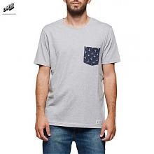 PIERCE CREW T-SHIRT Grey Heather