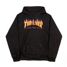 Flame Logo Hood Black