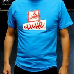 Combl Logo S/S Tee Turquoise Red