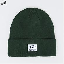 Staton Patch Beanie Forest Green