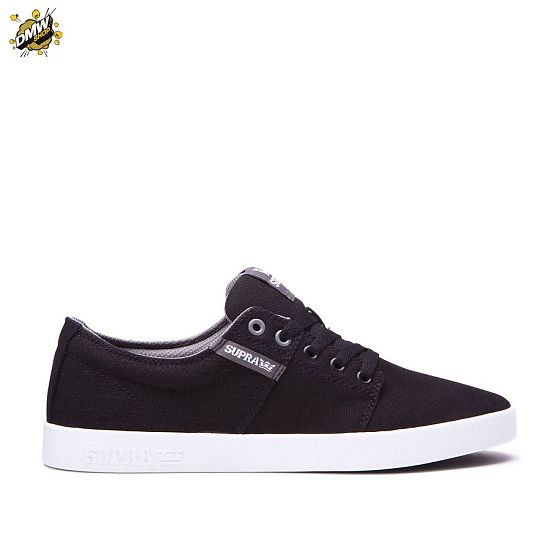 Supra Stacks II Black Stitch-White