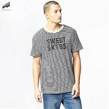 T-Shirt Regular Striped White/Black