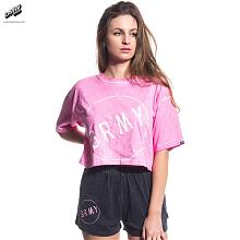CAMISETA CHICA THE INFAMOUS BF CROP TEE SS17 WASHED PINK