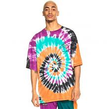 Camiseta Grimey Acknowledge Tie and Dye Tee SS20 Orange