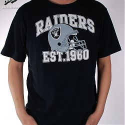 Pitchout T-Shirt  Raiders Black White