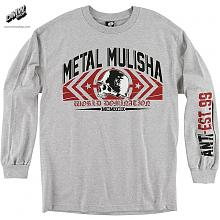 HEADRUSH L/S ATHLETIC GREY HEATHER