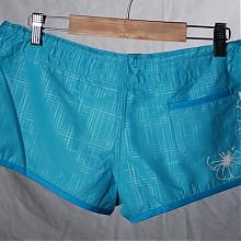 Shorty Hawaiian Hoop Beach Short check blue atoll