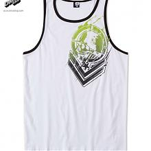 Bloodshot Tank White