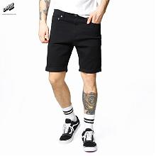 Shorts-Slim Colored Black