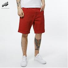 Shorts Slim Colored Ribbon Red