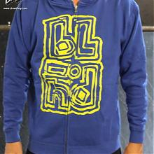 Jumbled Zip Hood Youth royal