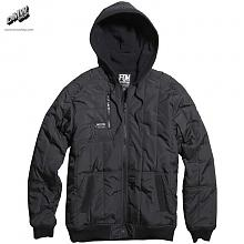 ARMED ZIP FRONT FLEECE BLACK