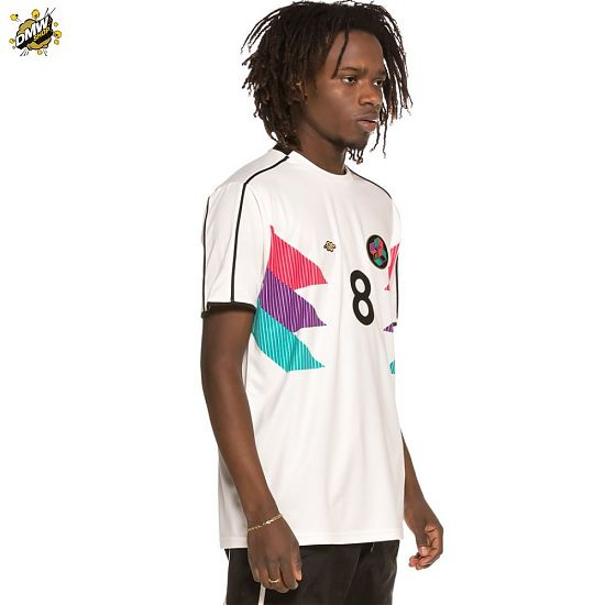 Grimey  Brick Top Soccer tee SS19 White