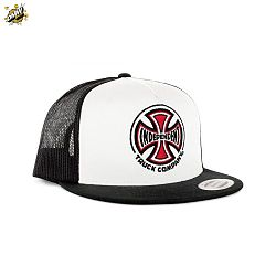 Truck Co Mesh Trucker Cap – White Black