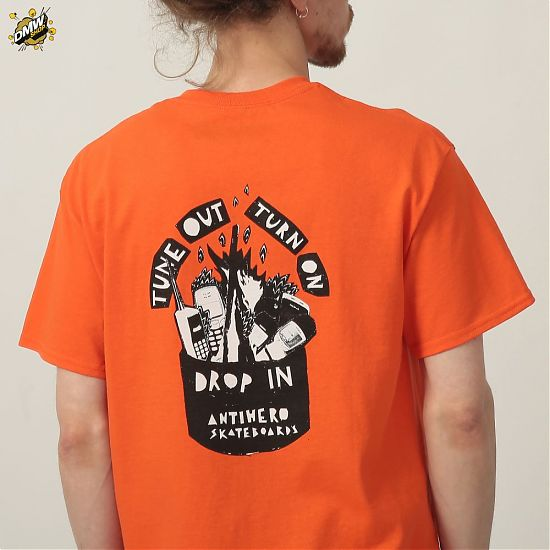 Antihero Tune Out SS PKT T shirt