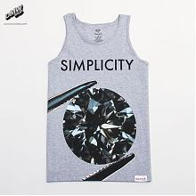 DIAMONDE SIMPLICITY II TANK TOP IN HEATHER GREY