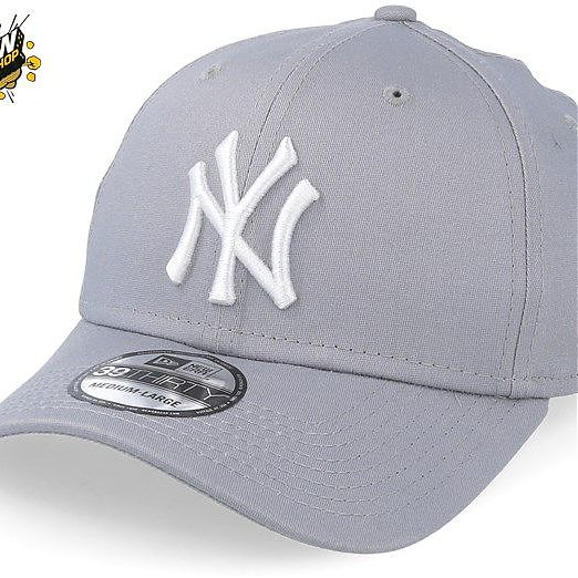 New Era 39THIRTY LEAGUE BASIC  NEYYAN GRAY/WHITE