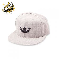 ICON SNAP HAT  GREY HEATHER