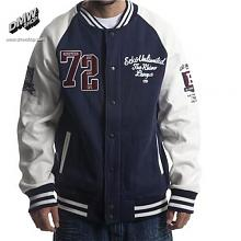 Fleece Varsity Jacket Depest Blue