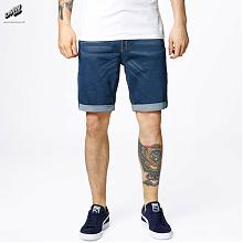 Shorts Slim Blue Wash