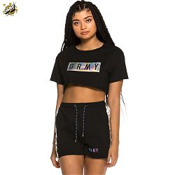 Camiseta Grimey chica Fluid Planet Crop Top SS19 Black