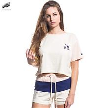 WALK ON BY CROP TOP ANTIQUE WHITE