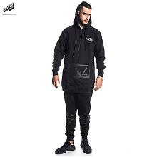 Fire Eater Long Zip Hoodie Black